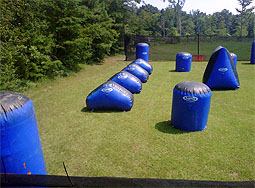 ... Paintball Field Another picture of the air bunkers at Hurricane Mt