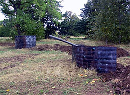 Turret on trench field at Chemawa Paintball Field