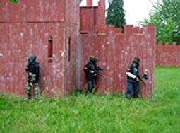 Red catles at chemawa paintball field in Salem Oregon