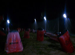 lights at Legends paintball field