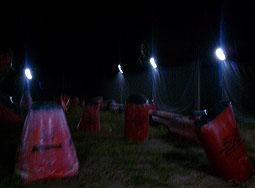 lights at Legends paintball field