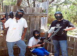 Group of frinds at lost paintball