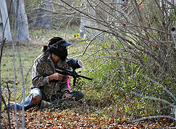 Player in field at paintball bonanza