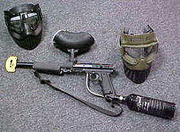 Paintball rental gear at paintball bonanza