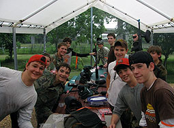 Group having fun at paintball bonanza