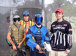 Group having fun at paintball Paradise