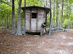 Another hut at survival paintball field