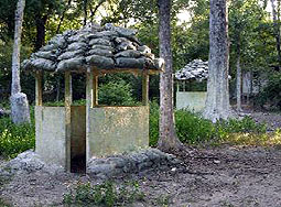 Vietnam Bunkers- huts at survival games