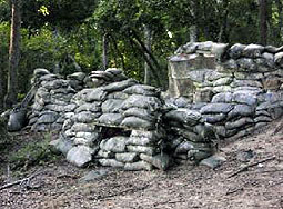 Bunker built in to the hill in the vietnam at survival games
